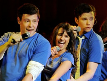 Cory Monteith, Lea Michelle And Chris Colfer