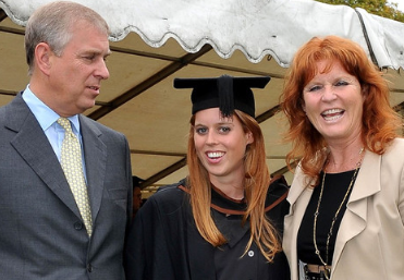 Prince Andrew, Princess Beatrice and Sarah Feguson