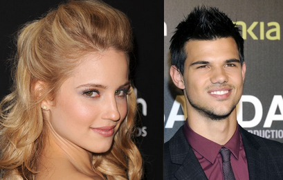 Dianna Agron and Taylor Lautner
