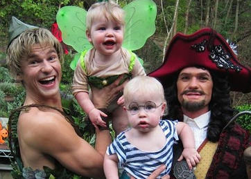 David Burtka, the twins and Neil Patrick Harris