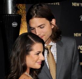 Lea Michelle and Ashton Kutcher