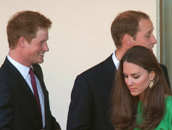 Prince Harry, Prince William and Duchess Kate